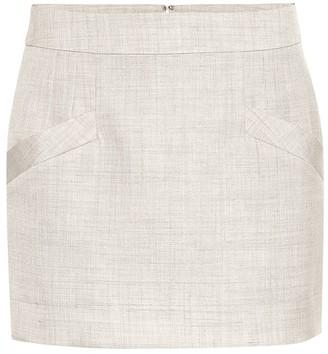 Stella McCartney Linen-blend miniskirt