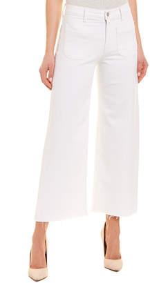 Hudson Jeans Holly White High-Rise Wide Leg Crop