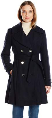 Jessica Simpson Women's Wrap Double Breasted Peacoat
