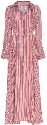 Evi Grintela Victoria stripe maxi dress
