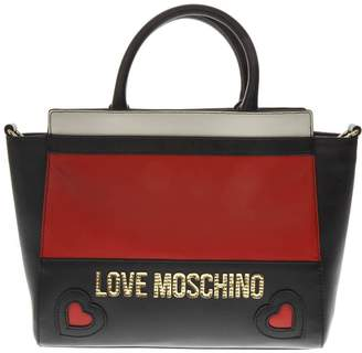 Love Moschino Three Colors Faux Leather Hand Bag