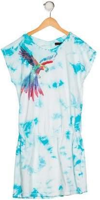 Catimini Girls' Printed Short Sleeve Dress