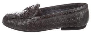 Sesto Meucci Leather Woven Loafers