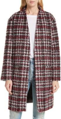 IRO Twisted Plaid Boucle Tweed Coat