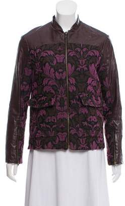 Timo Weiland Leather-Accented Zip-Up Jacket