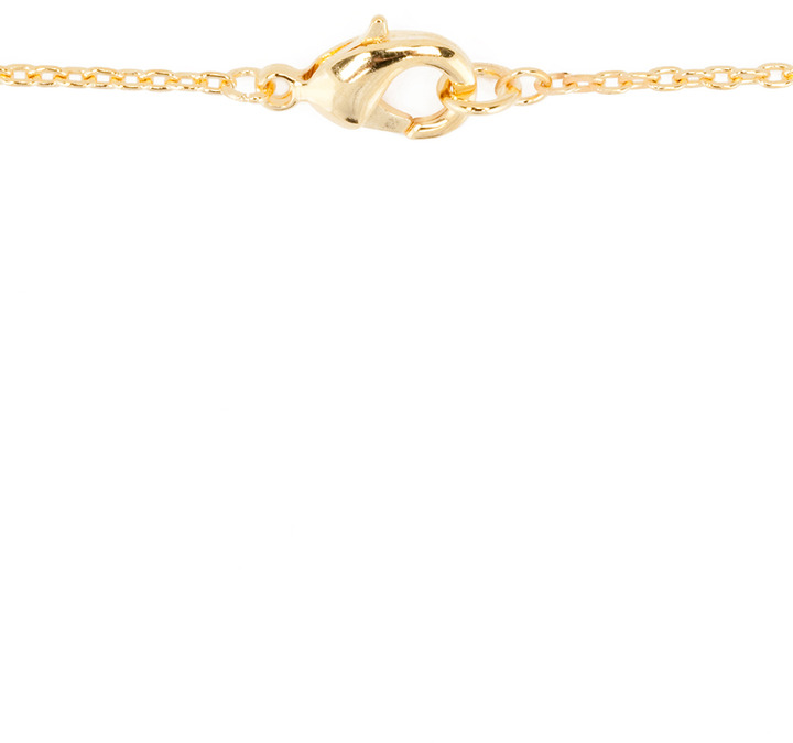 Tom Binns Uber Urban Fuck Gold Plated Necklace in Gold