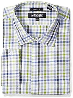 Stacy Adams Men's Big and Tall Big & Tall Grid Check Classic Fit Dress Shirt