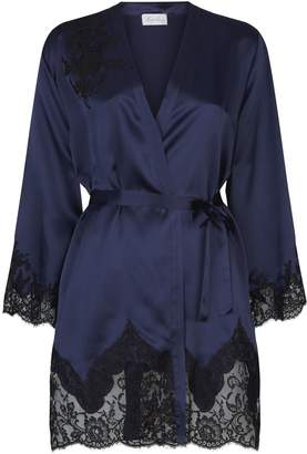 Marjolaine Short Lace Trim Robe