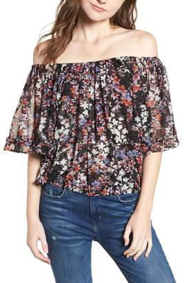 MISA LOS ANGELES Abby Floral Off the Shoulder Top