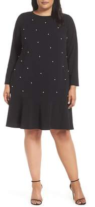 ECI Pearly Bead Shift Dress