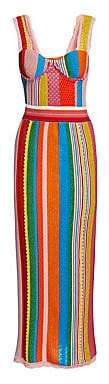 Moschino Women's Multi Stripe Knit Dress