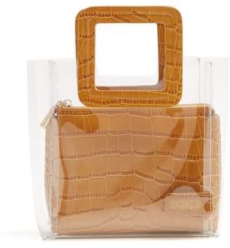 1206cb8e8460b STAUD Mini Shirley Leather   Pvc Tote Bag - Womens - Tan
