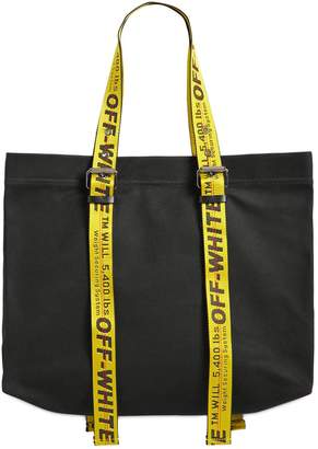 Off-White Off White Large Canvas Tote Bag W/ Logo Straps
