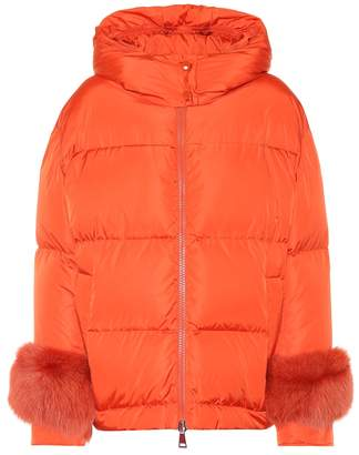 Moncler Effraie fur-trimmed down jacket