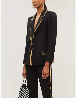 The Kooples Gold-trimmed wool blazer
