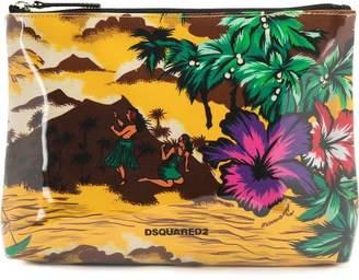 DSQUARED2 Hawaiian print make-up bag