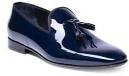Jared Lang Jimmy Collection Hand-Made Patent Leather Tassel Loafers