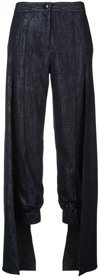 cape detailed trousers