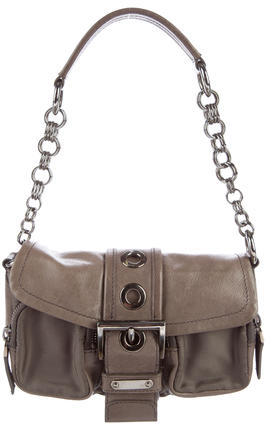 prada Prada Leather-Trimmed Tessuto Mini Bag