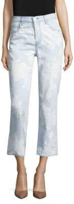 J Brand Wynne Straight-Leg Floral Print Jeans