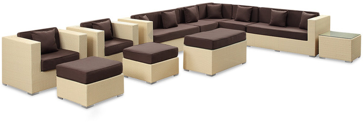 Modern Outdoor Connection Sectional Sofa Set (11 PC)