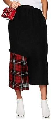Yohji Yamamoto Regulation Women's Crop Wide-Leg Skirt-Pants - Red