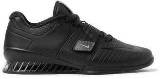 Nike Training - Romaleos 3 Xd Faux Leather Sneakers - Black