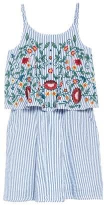 Tucker + Tate Embroidered Overlay Dress