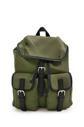 Forever 21 Buckle-Strap Drawstring Backpack