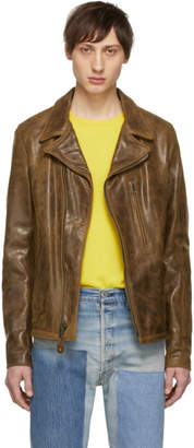 Schott Brown Leather Express Motorcycle Jacket
