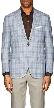 Sartorio Men's PG Plaid Wool-Blend Two-Button Sportcoat