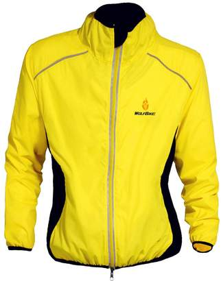 MonkeyJack Reflective Ultra-light Cycling Jacket Bicycle Riding Running Wind Coat Waterproof for Women Men