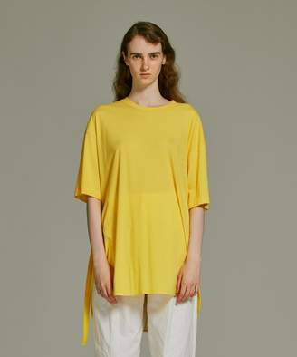 ATON DEL CELLO COTTON/オーバーサイズベルトTシャツ(C)FDB