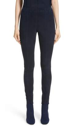 St. John Stretch Suede Crop Leggings