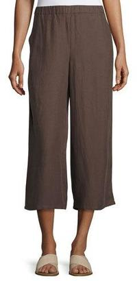 Eileen Fisher Drapey Cropped Pants, Cobblestone $178 thestylecure.com