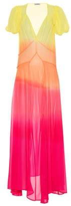 ATTICO Printed silk maxi dress