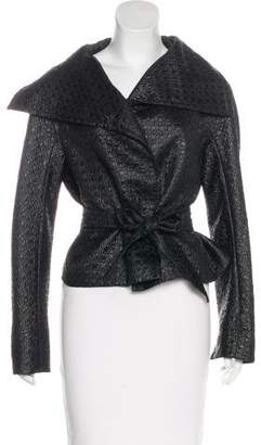 Max Mara Quilted Houndstooth Jacket
