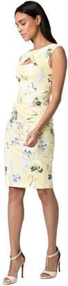 Le Château Women's Floral Print Stretch Poplin Sheath Dress,L