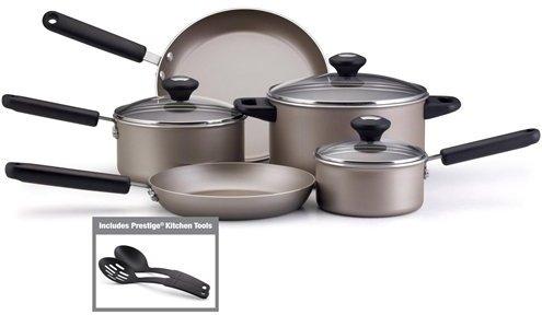 Farberware Platinum Nonstick Cookware Set with Black Handles