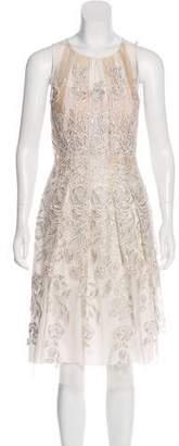 Blumarine Embroidered Metallic Dress