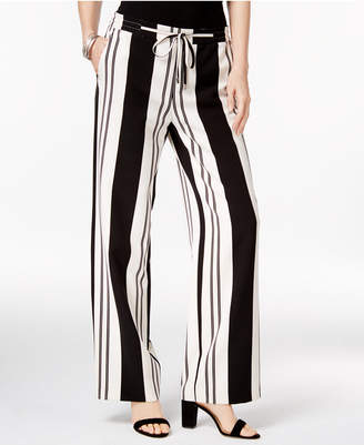 INC International Concepts Striped Wide-Leg Pants, Only at Macy's $69.50 thestylecure.com