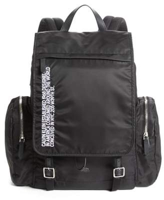 Calvin Klein Nylon Flap Backpack