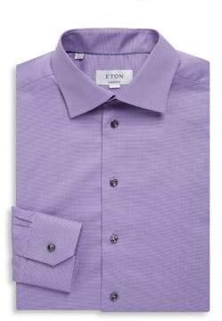 Eton Contemporary Fit Mini Houndstooth Dress Shirt