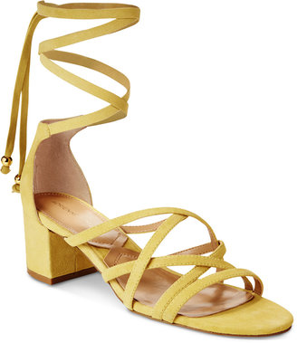 Adrienne Vittadini Alesia Lace-Up Sandals Women's Shoes $110 thestylecure.com