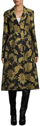 Derek Lam Women's Printed Tailored Notch Coat