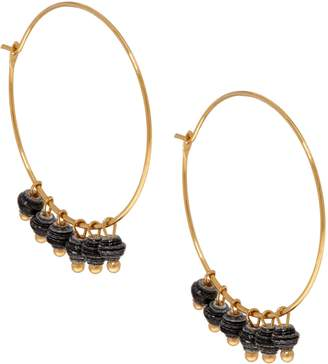 3.1 Phillip Lim Bits Goldtone Melah Hoop Earrings with Dangling Beads