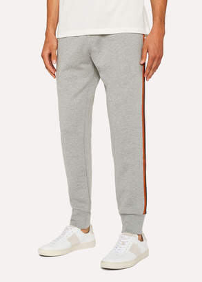 Paul Smith Men's Grey Marl 'Artist Stripe' Sweatpants