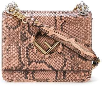 068de1b612 at Kirna Zabete · Fendi F Logo Kan I Small Python Shoulder Bag