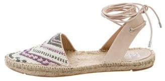 Sigerson Morrison Beaded Lace-Up Espadrilles w/ Tags