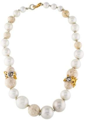 Alexis Bittar Faux Pearl, Crystal & Stone Bead Necklace